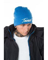 Twinzz - Blue Lightning Script Beanie for Men - Lyst