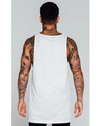 Enuki London - White Lower Mesh Detail Vest for Men - Lyst