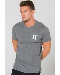 11 Degrees - Gray Core T-shirt for Men - Lyst