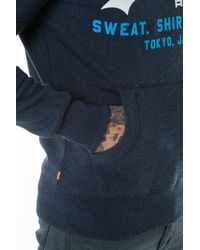Superdry - Blue Sweat Shirt Store Tri Hoodie for Men - Lyst