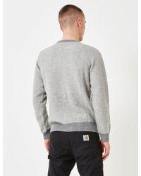 Carhartt Gray Spooner Knit Sweatshirt for men