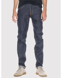 Nudie Jeans - Blue Steady Eddie Jeans (tapered Leg) for Men - Lyst