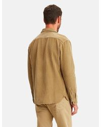 Levi's Brown Jackson Cord Worker Shirt for men