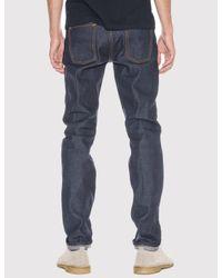 Nudie Jeans - Blue Steady Eddie Jeans (tapered Leg) for Men - Lyst