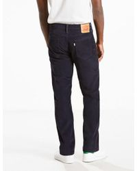 Levi's Black 514 Cord Jeans (straight) for men