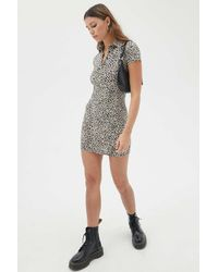 Motel Gray Jeeves Floral Mini Dress