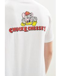 Urban Outfitters - White Chuck E. Cheese Logo Tee for Men - Lyst