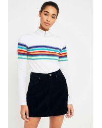 BDG Black Cord Notch Hem Skirt