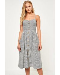 da0f1def78 Kimchi Blue. Women s Emilia Seersucker Linen Button-down Midi Dress