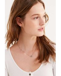 Urban Outfitters - Metallic Peace Sign Charm Necklace - Lyst