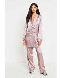 Gestuz - Zoe Pink Long Shiny Blazer - Womens 36 - Lyst
