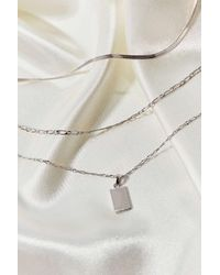 Urban Outfitters Metallic Odin Tag Layer Necklace