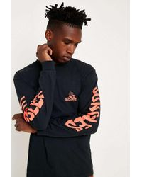 JUNGLES Black Sphinx Logo Long-sleeve T-shirt for men