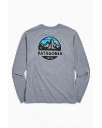 Patagonia Gray Fitz Roy Scope Long Sleeve Tee for men