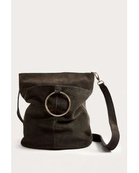 Urban Outfitters Uo Black Suede Ring Bucket Bag