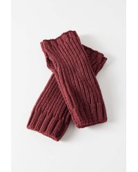 Urban Outfitters Red Uo Ribbed Knit Fingerless Glove