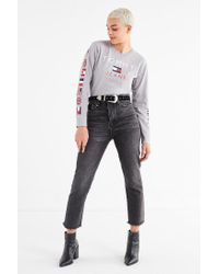 Tommy Hilfiger - Gray Tommy Jeans Long Sleeve Tee - Lyst