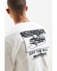 Vans White 1-800 Long Sleeve Tee for men