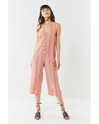 add170991e29 Lyst - Urban Outfitters Uo Jordan Button-down Jumpsuit