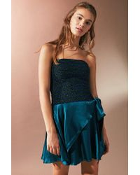 Urban Outfitters - Black Uo Smocked Lurex Tube Top - Lyst