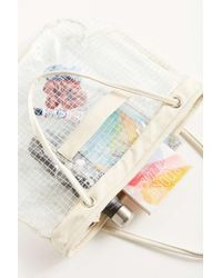 Urban Outfitters Multicolor Grid Plastic Bucket Tote Bag