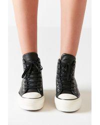Converse - Black Converse Chuck Taylor All Star Platform High Top Sneaker - Lyst