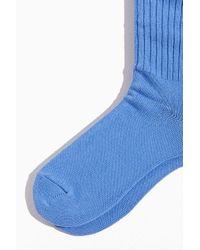 Polo Ralph Lauren Blue Ribbed Cotton Crew Sock for men