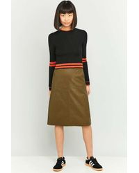 Urban Outfitters Urban Outfitters Sporty Cropped Black Jumper