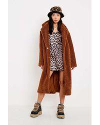 b1eaec424504 Urban Renewal Remnants Leopard Print Slip Dress - Womens M in Brown ...