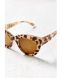 Quay Brown Kittie Cat-eye Sunglasses