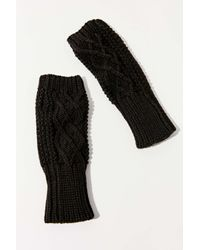 Urban Outfitters Black Cable Knit Fingerless Glove