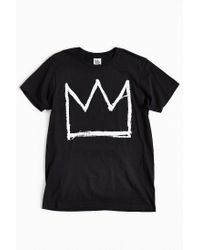 Junk Food | Black Basquiat Crown Tee for Men | Lyst