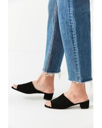 Urban Outfitters - Black Patti Suede Mule Heel - Lyst