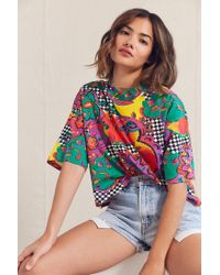 Urban Outfitters - Purple Vintage '90s Cropped Printed Tee - Lyst