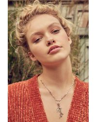 Urban Outfitters - Metallic Charm Lariat Necklace - Lyst