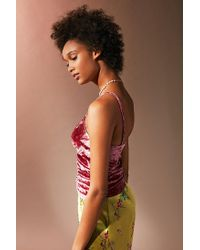 Urban Outfitters - Purple Uo Clary Ruched Velvet Cami - Lyst