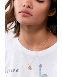 Urban Outfitters - Metallic Lucky Charm Short Chain Necklace - Lyst