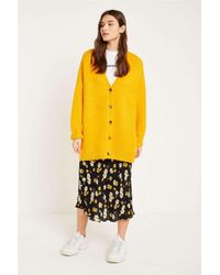 e55564ba24 BDG Oversized Cardigan - Womens M in Yellow - Lyst
