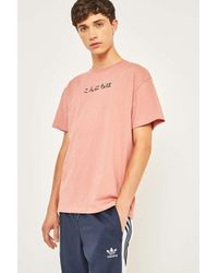 Urban Outfitters Uo Konichiwa Embroidered Text Pink T-shirt for men