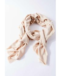 Urban Outfitters Natural Uo Basic Woven Blanket Scarf