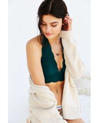 Out From Under - Green Lace Halter Bra - Lyst