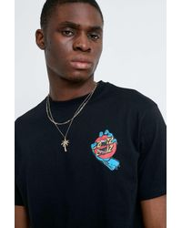 Santa Cruz UO Exclusive - Logo-T-Shirt Dot Hand in Schwarz in Black für Herren
