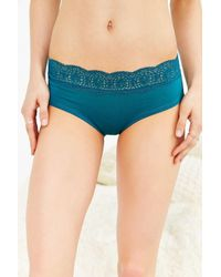Out From Under - Blue Fara Lace-trim Hipster - Lyst