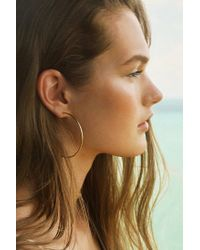 Urban Outfitters - Metallic Sterling Silver + 18k Gold Plated Daryl Hoop Earring - Lyst