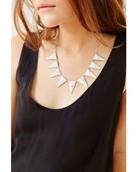Luv Aj | Metallic Marble Triangle Necklace | Lyst