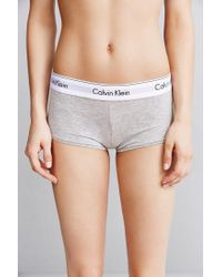 Calvin Klein - Gray Modern Cotton Boyshort - Lyst