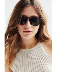 Urban Outfitters | Black Boyfriend Slim Square Sunglasses | Lyst