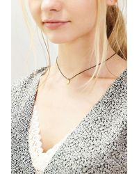 Urban Outfitters - Metallic Mini Tag Short Necklace - Lyst