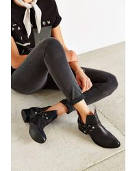 Jeffrey Campbell   Black Musk-harness Ankle Boot   Lyst