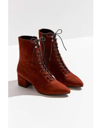 Vagabond Brown Mya Lace-up Boot